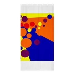 Blue and orange dots Shower Curtain 36  x 72  (Stall)