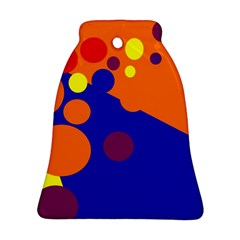 Blue and orange dots Bell Ornament (2 Sides)