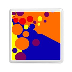 Blue and orange dots Memory Card Reader (Square)