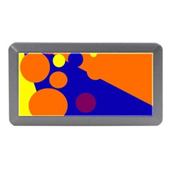 Blue and orange dots Memory Card Reader (Mini)