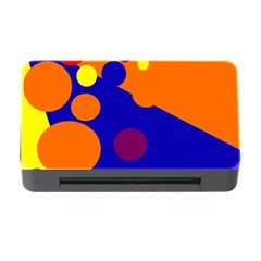 Blue And Orange Dots Memory Card Reader With Cf