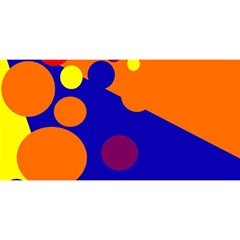 Blue and orange dots YOU ARE INVITED 3D Greeting Card (8x4)