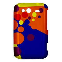 Blue and orange dots HTC Wildfire S A510e Hardshell Case