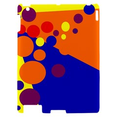 Blue and orange dots Apple iPad 2 Hardshell Case