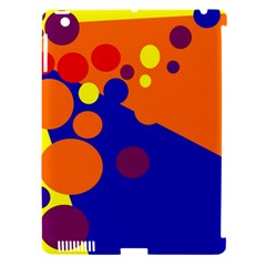 Blue and orange dots Apple iPad 3/4 Hardshell Case (Compatible with Smart Cover)
