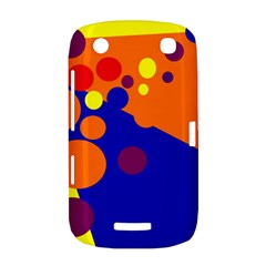 Blue and orange dots BlackBerry Curve 9380