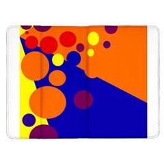 Blue and orange dots Kindle Fire (1st Gen) Flip Case