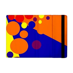 Blue and orange dots Apple iPad Mini Flip Case
