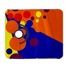 Blue and orange dots Samsung Galaxy S  III Flip 360 Case