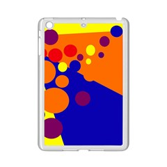 Blue and orange dots iPad Mini 2 Enamel Coated Cases