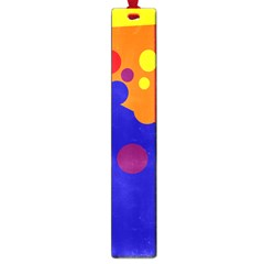 Blue and orange dots Large Book Marks