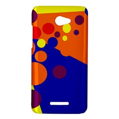 Blue and orange dots HTC Butterfly X920E Hardshell Case