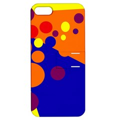 Blue and orange dots Apple iPhone 5 Hardshell Case with Stand
