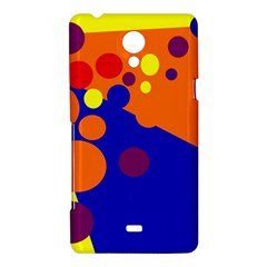 Blue and orange dots Sony Xperia T
