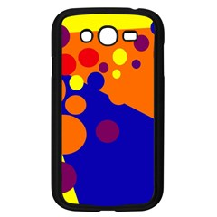 Blue and orange dots Samsung Galaxy Grand DUOS I9082 Case (Black)