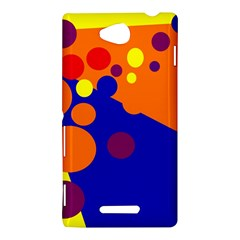 Blue and orange dots Sony Xperia C (S39H)
