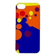 Blue and orange dots Apple iPhone 5S/ SE Hardshell Case