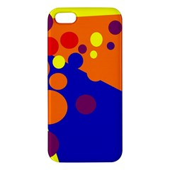 Blue and orange dots iPhone 5S/ SE Premium Hardshell Case