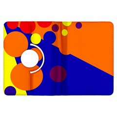 Blue and orange dots Kindle Fire HDX Flip 360 Case