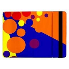 Blue and orange dots Samsung Galaxy Tab Pro 12.2  Flip Case