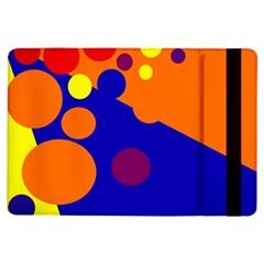 Blue and orange dots iPad Air Flip