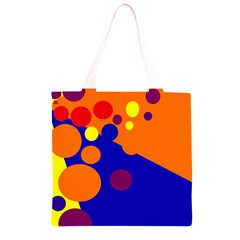 Blue and orange dots Grocery Light Tote Bag