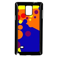 Blue and orange dots Samsung Galaxy Note 4 Case (Black)