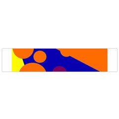 Blue and orange dots Flano Scarf (Small)