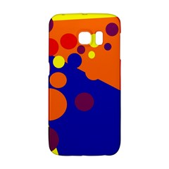 Blue and orange dots Galaxy S6 Edge