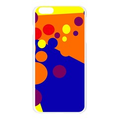 Blue and orange dots Apple Seamless iPhone 6 Plus/6S Plus Case (Transparent)