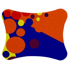 Blue and orange dots Jigsaw Puzzle Photo Stand (Bow)