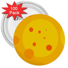 Abstract sun 3  Buttons (100 pack)
