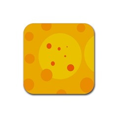 Abstract sun Rubber Square Coaster (4 pack)