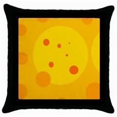 Abstract sun Throw Pillow Case (Black)