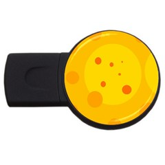 Abstract sun USB Flash Drive Round (1 GB)