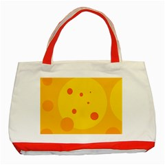 Abstract sun Classic Tote Bag (Red)