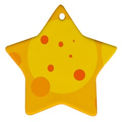 Abstract sun Star Ornament (Two Sides)