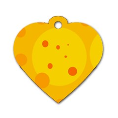 Abstract sun Dog Tag Heart (Two Sides)