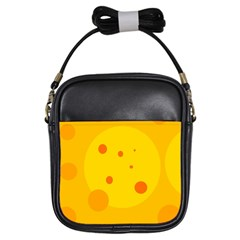 Abstract sun Girls Sling Bags