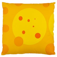 Abstract sun Large Cushion Case (Two Sides)