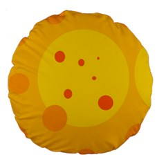 Abstract sun Large 18  Premium Round Cushions