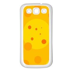 Abstract sun Samsung Galaxy S3 Back Case (White)