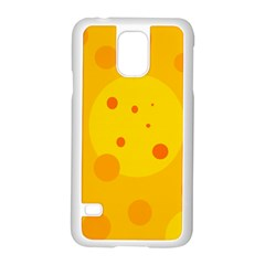 Abstract sun Samsung Galaxy S5 Case (White)