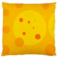 Abstract sun Large Flano Cushion Case (One Side)