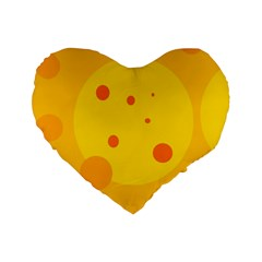 Abstract sun Standard 16  Premium Flano Heart Shape Cushions
