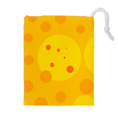 Abstract sun Drawstring Pouches (Extra Large)