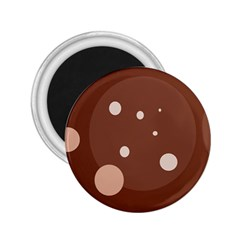 Brown abstract design 2.25  Magnets