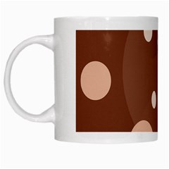 Brown abstract design White Mugs