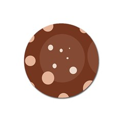 Brown abstract design Magnet 3  (Round)