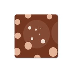 Brown abstract design Square Magnet